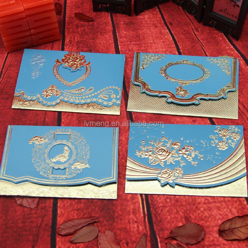 Cheap wedding invitation cards hot sale/ hot stamping wedding cards wholesale