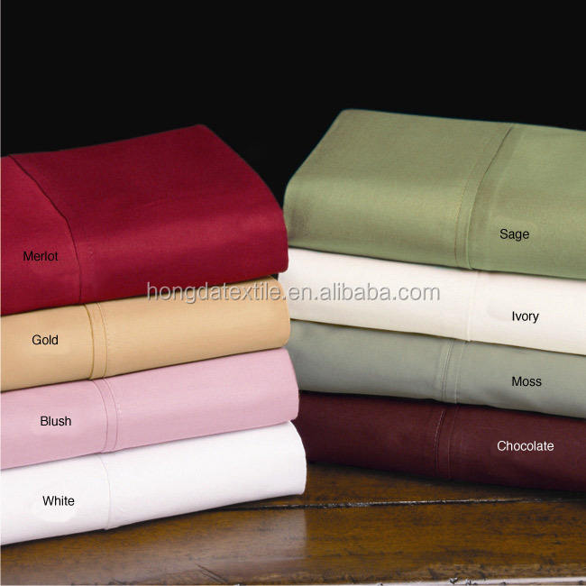 Pima 100% Cotton sateen sheet set for hotel collection