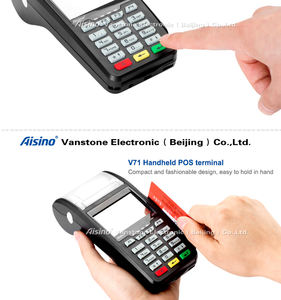 Mobile wireless countertop V71 Handheld GPRS eft 3G mobile POS terminal