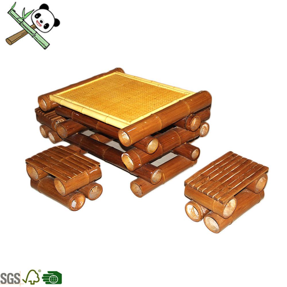 Экологичные Китайский традиционный стиль bamboo обеденный стол и стул набор