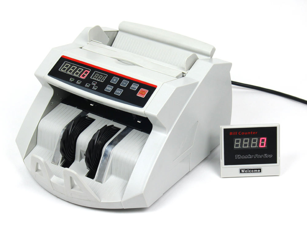 cheap banknote counter /money counting machine /bill counter with detection 2108UVMG