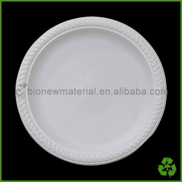 7 pulgadas 100% biodegradable compostable plato desechable