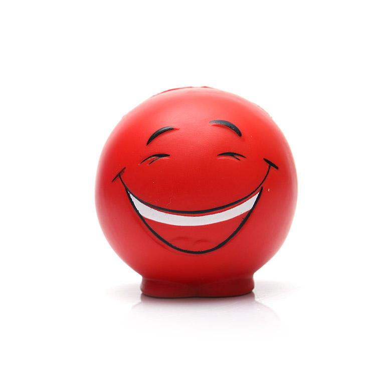 Conception personnalisée pu drôle visage balles anti-stress