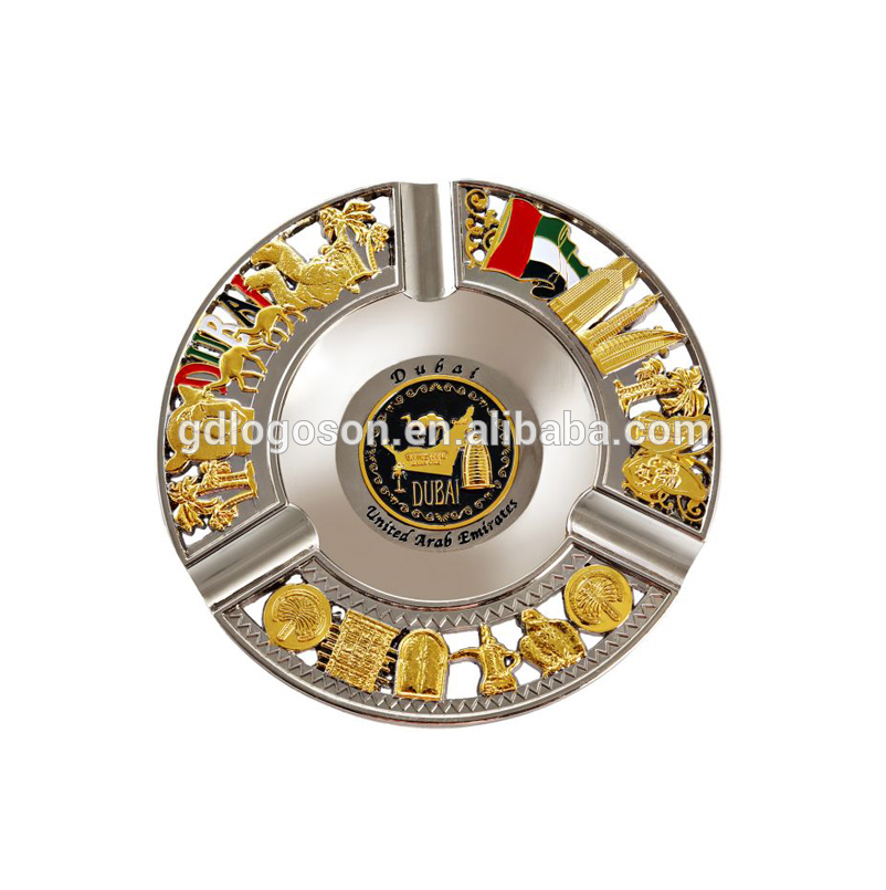 Gifts Dubai Engraved Camel Charms Collectable Ash Tray Antique Metal Gold UAE Dubai Souvenir Ashtray