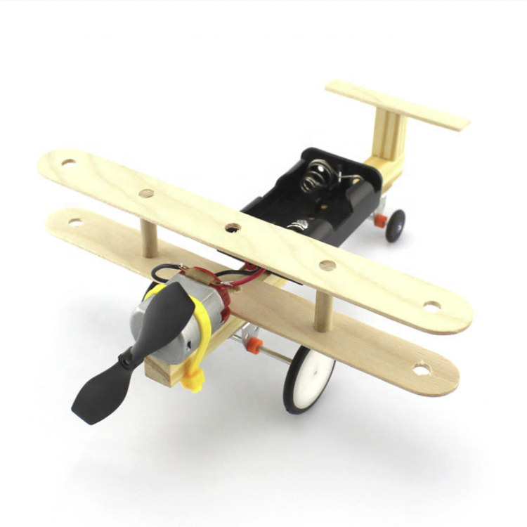 DIY Physical Science Experiment Toy Children Airplane Car Wood Assemble Model Kit Creative Educational Gift