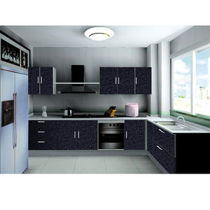 Factory wholesale cheap price factory direct compact lacquer kitchen furniture