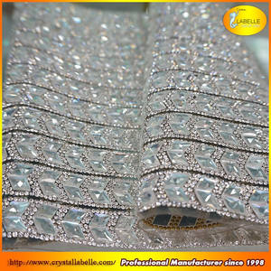 Wholesale Diamante Rhinestone Trim Mesh Rhinestone Applique Trim
