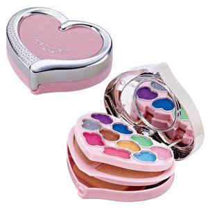 New Small 3 In 1 Make Up Makeover Cosmetics Eyebrow Lighted Mini Set Makeup Kit For Beginner No.