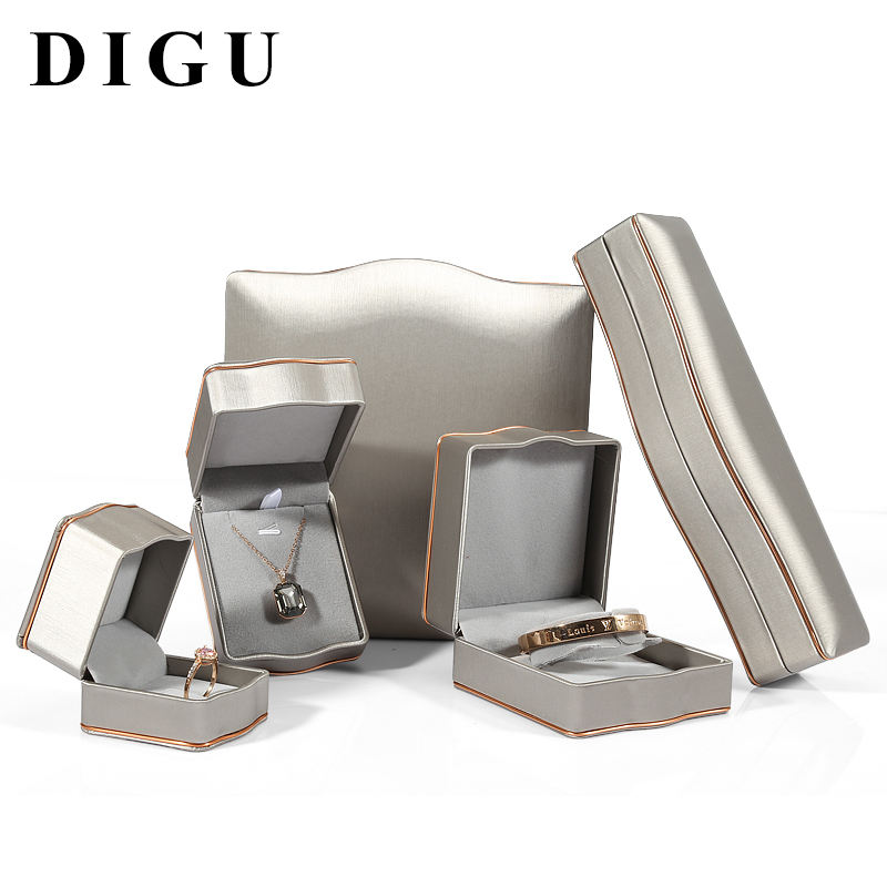 DIGU NEW Design Accept Custom High Quality PU leather jewelry box