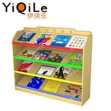 Simple but high quality kids book shelf children wooden shelf kids bookshelf