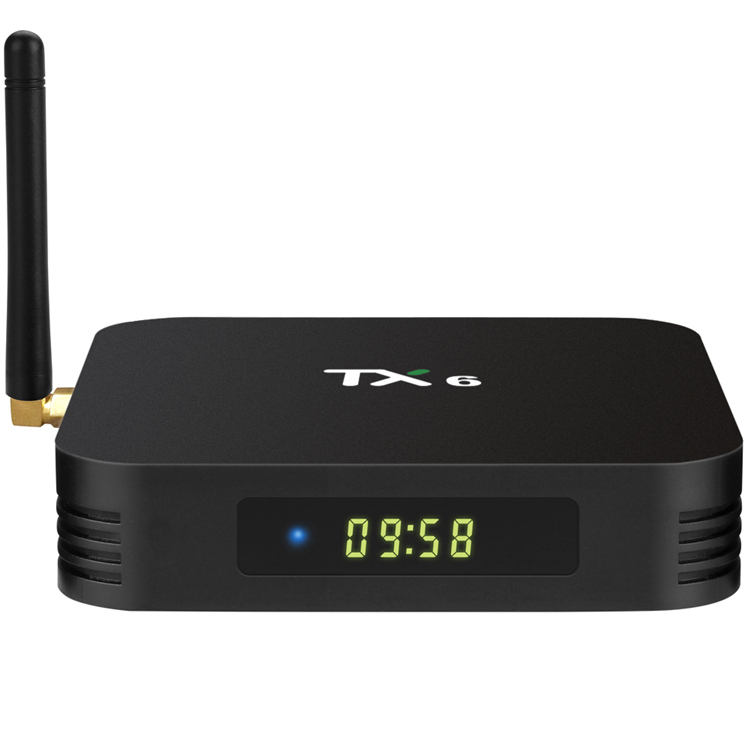 Tanix TX6 H6 4G 32G Allwinner Firmware Android 9.0 TV Tuner Box dengan HD Penerima Satelit TV Box android Quad Core