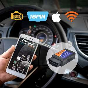 Akses Internet Nirkabel OBD2 Scanner Mesin Kesalahan Kode Reader Reset Adaptor untuk iPhone Ios Android Windows, jelas OBDII Diagnostik Scan Alat B18
