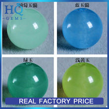 Natural Gems Beads Chalcedony Smooth Chrysoprase Natural Green Chalcedony