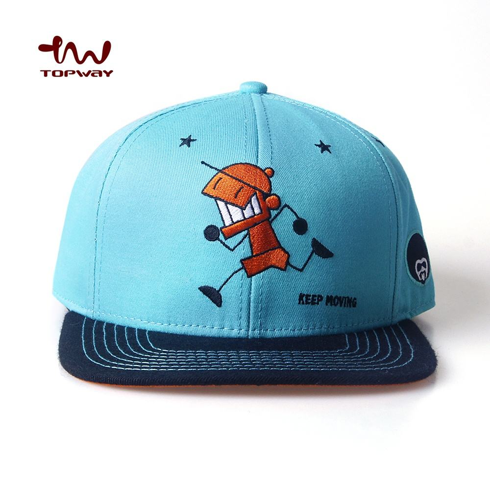 Wholesale Small MOQ Custom Embroidery 6 Panel Snapback Cap Hat