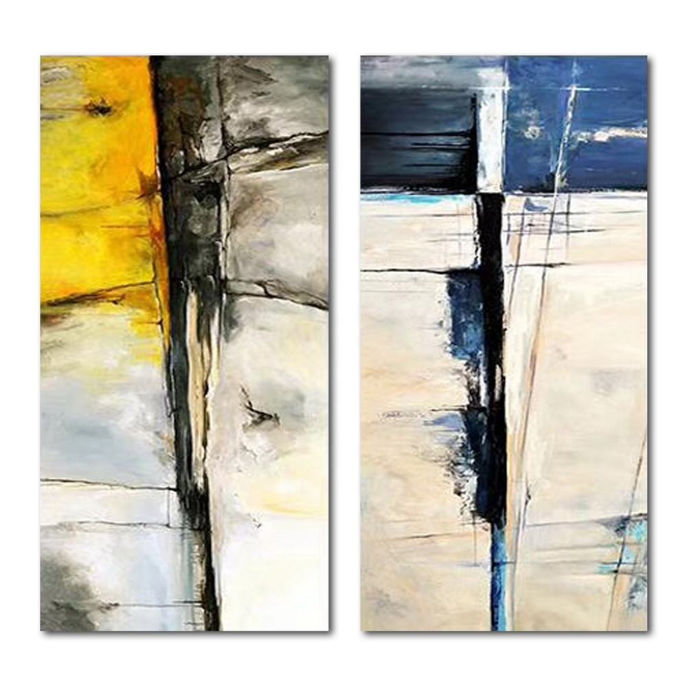 Canvas Art Hand-Painted wall art 2 abstract painting hand painting oil canvas for home decor wall