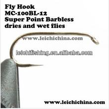 Super point barbless 1X heavy hooks fly tying