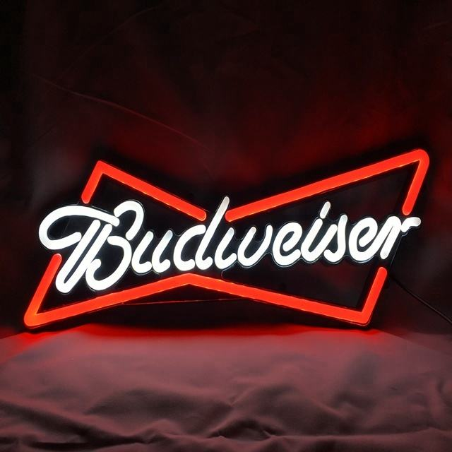 budweiser beer advertising led neon beer sign with acrylic base