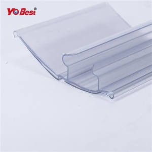 Clear plastic PVC lottery ticket holder price tag holder for bakery shelves