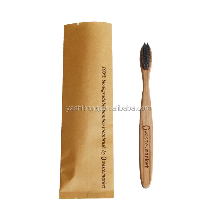 Custom Recyclable heat seal toothpaste kraft paper sachet bags for bamboo toothbrush packaging