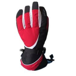 Women Ski Glove Five Finger Ski Gloves Contrast Color Patchw