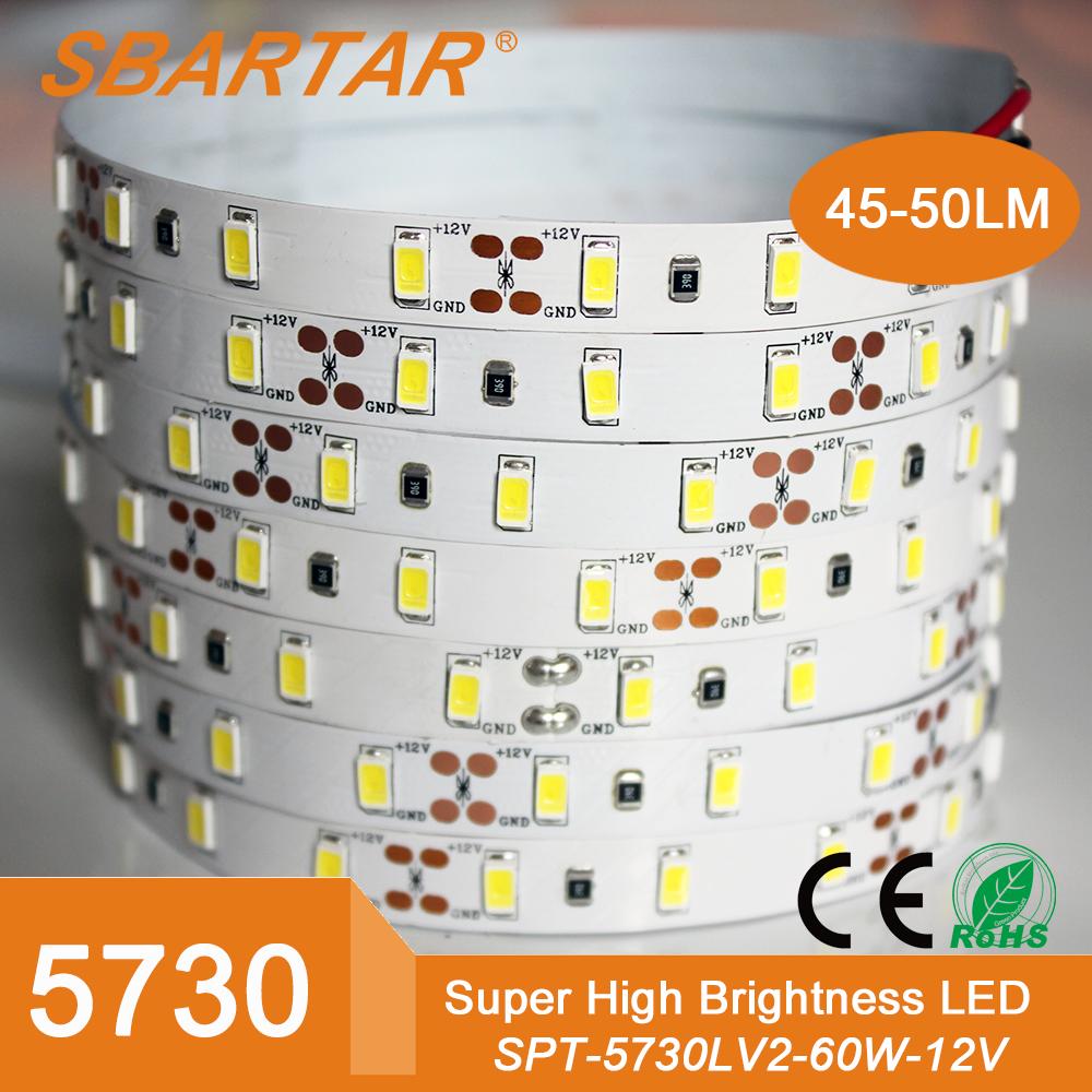 Venta al por mayor LED luz de tira 5730 SMD cadena cinta cinta Roll enfríe blanco