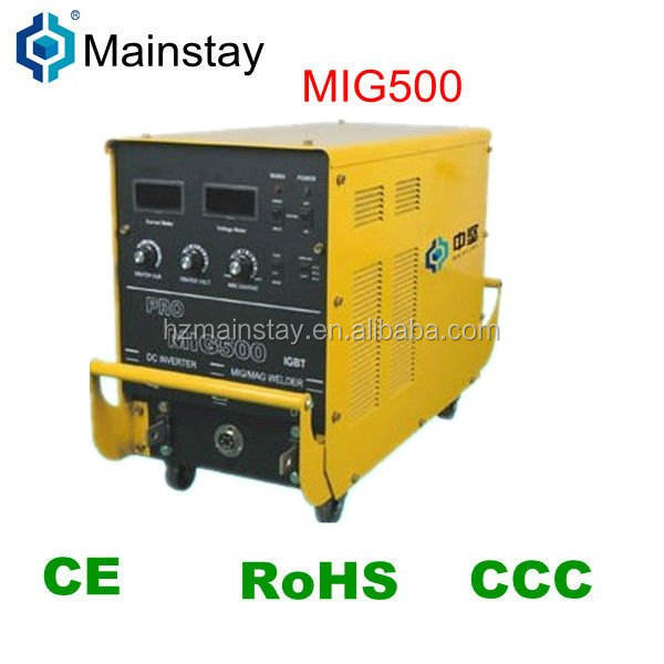 High power mig500 inverter gas welding and thermal plasma arc welding machine