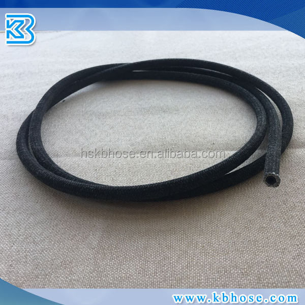 "3.2mm 1/8"" COTTON OVER BRAIDED NBR RUBBER Fuel OIL LINE HOSE PIPE FOR PETROL DIESEL GASOLINE RESISTANT"