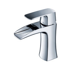 waterfall bathroom sink basin mixer faucet lavatory taps chrome finish cUPC certification
