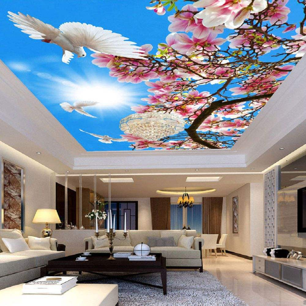 Foxygen brand 3mWx2mH per piece New Fashion Ceiling Decoration Panels 3D HD Night Sky Stars Printed PVC Film for Stretch Ceiling