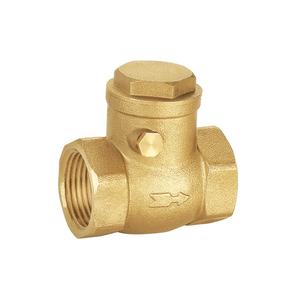 Factory price free sample brass swing check valve for hot water bluehigh pressure