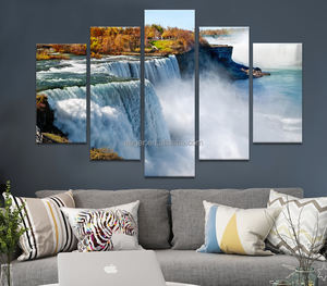 Customized Natural Scenery Wall Picture Art Print 5 Panel Painting on Canvas