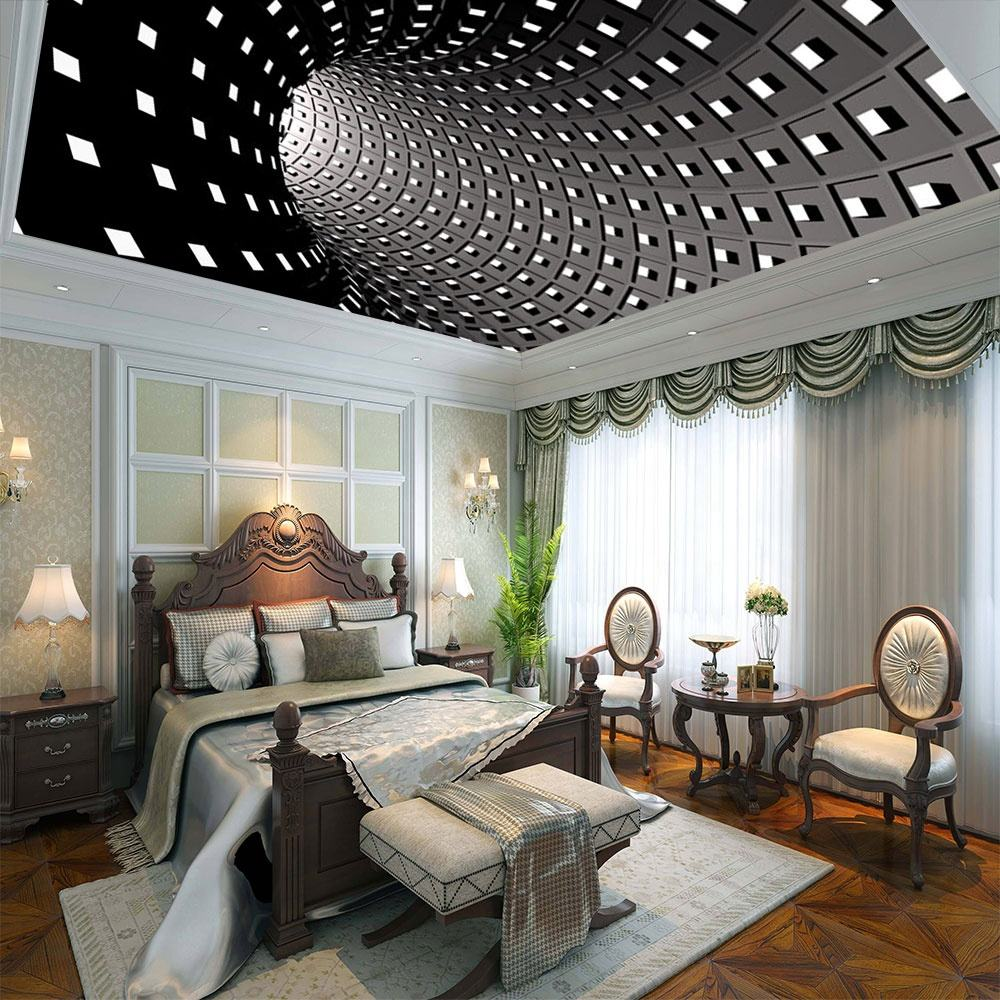 lowest cheap wall paneling pop ceiling designs 3d printed PVC stretch ceiling film price
