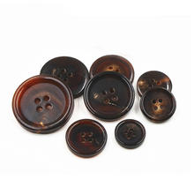 custom 4 hole round flatback coat suit natural genuine buffalo horn buttons