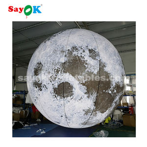 Promotion events Spectacular club decoration hanging LED inflatable moon ball for Event