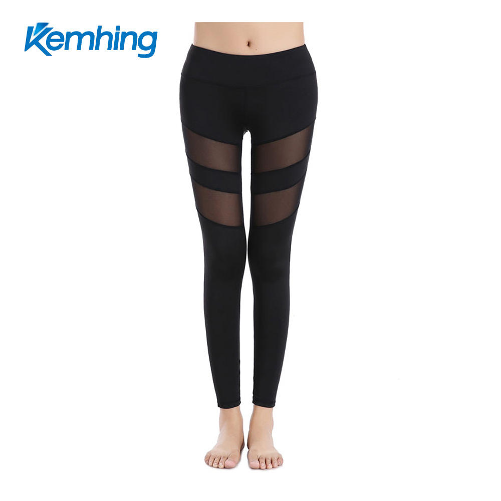 mesh dry fit womens leggings yoga pants wholesale sportswear yoga pants no panties