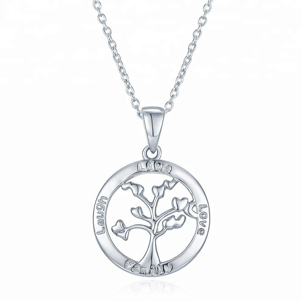 <span class=keywords><strong>Mẹ</strong></span> món quà ngày 925 Sterling Silver Tree của Cuộc Sống Gia Đình Cây Mặt Dây Chuyền Vòng Cổ