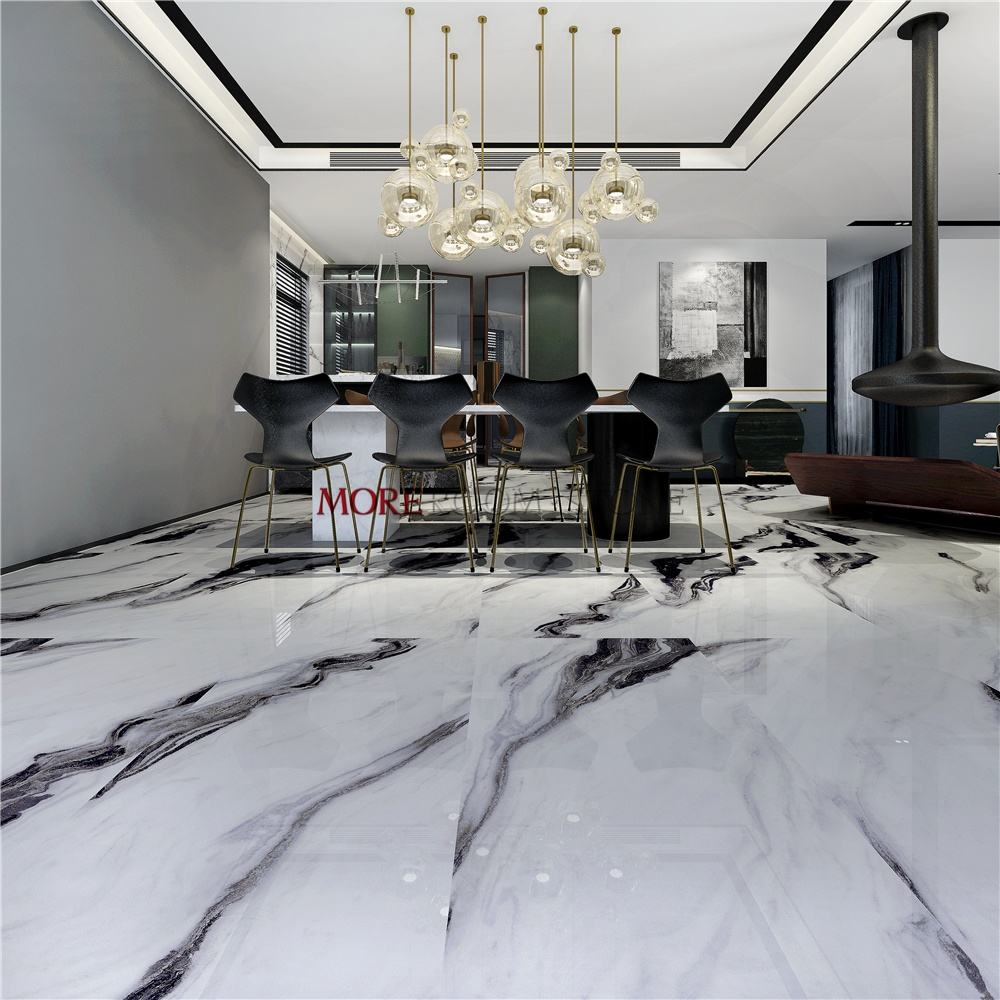 600x1200 Foshan Glazed China Panda White Marble Porcelain Tiles for Wall and Floor Decor