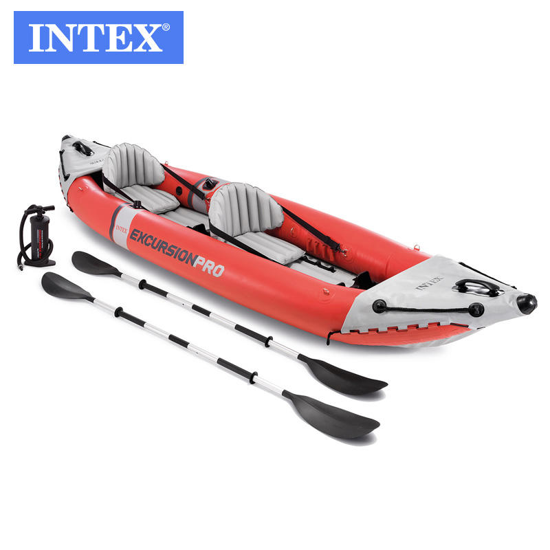 INTEX 68309 EXCURSION PRO 2 remo inflable conjunto de embarcación para pesca