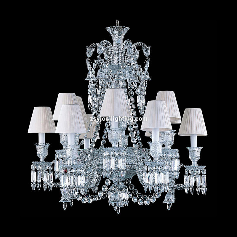 Baccarat traditional style candle chrome crystal chandelier uk lamp lighting baccarat chandelier