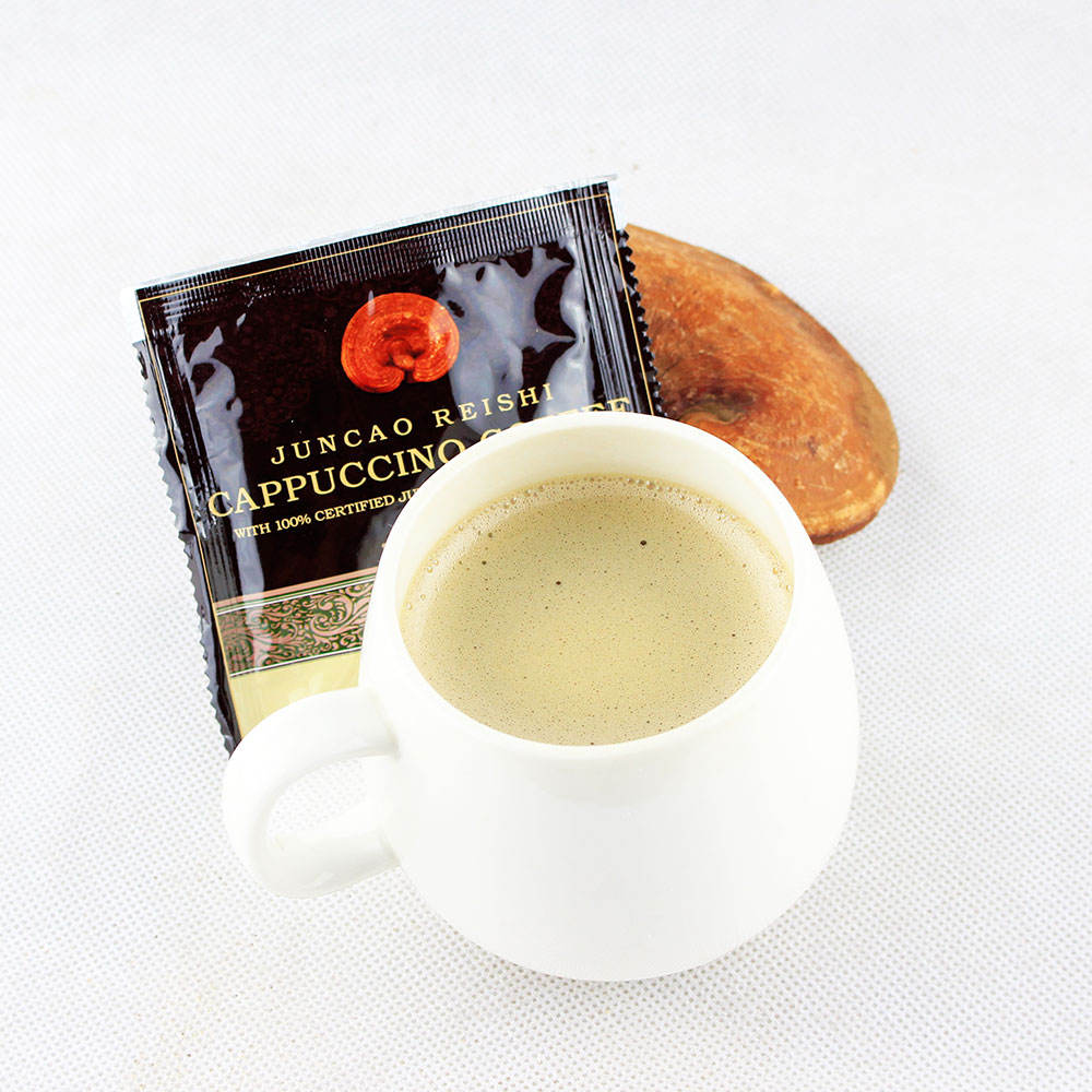 Fuzhou slimming cafe cappuccino instant ganoderma coffee 3 in 1