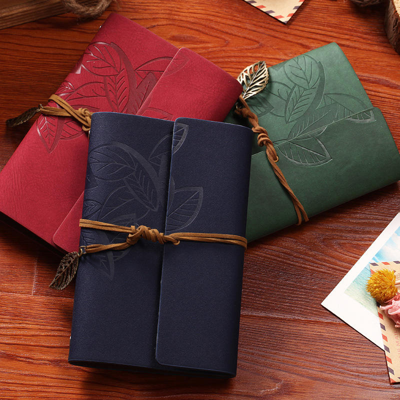 Stationary Factory Leather Bound Journal Personalized Bulk Spiral Notebooks Refillable Leather Journals Kraft Paper Diary