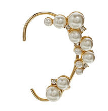 New Fashion Beads Pearl Ear Clips For Women With Gold Ear Cuff Earrings