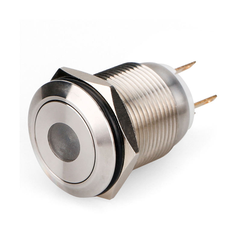 12 V Auto Auto Rote LED Light Momentary Lautsprecher Horn Push Button Metall Kippschalter 19mm
