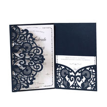 Wedding Decoration & Gift Use and Card Product Type More Colors Personalized Card Laser Cut Wedding Invitations