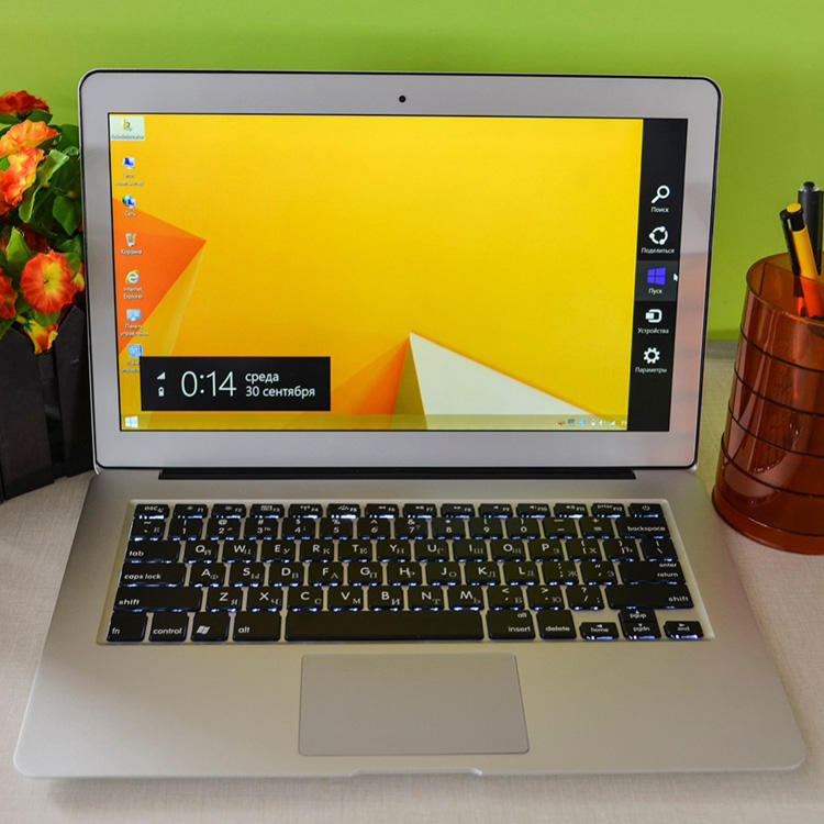 Laptop stock Windows10 In-tel I5 I7 CPU 13.6inch Metal laptop computer notebook 1920*1080 laptop with Backlit keyboard