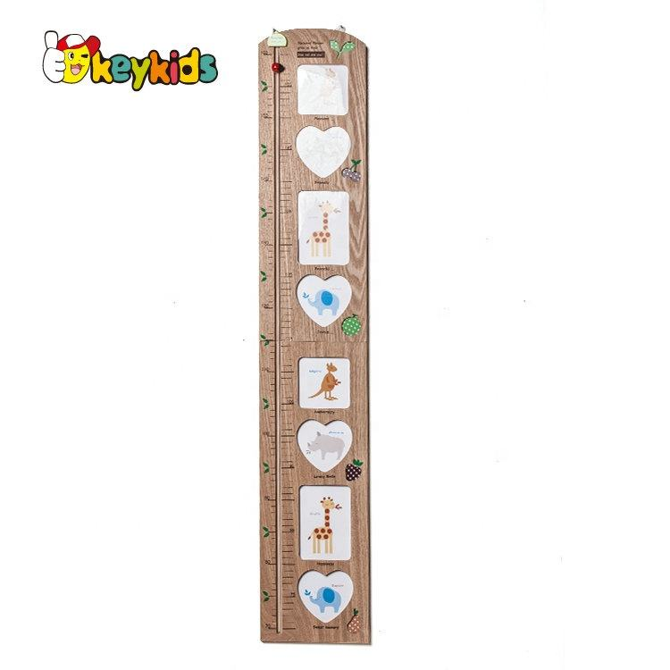 Home Decor children growth wooden wall ruler height chart for kids W09C010