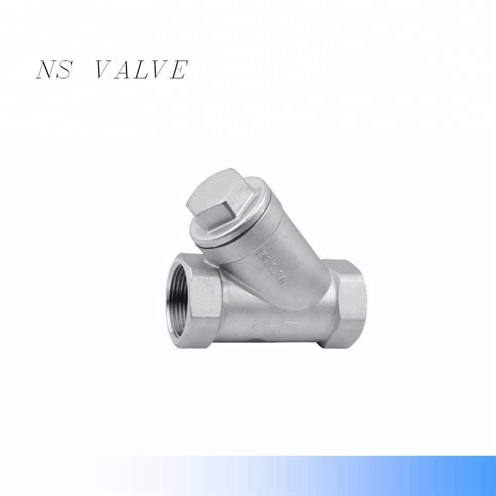Stainless steel threaded SS304 CF8 Y Strainer