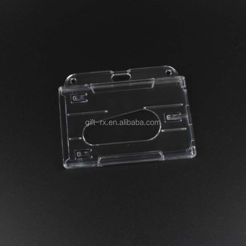Bsci Hot Verkoop Clear Hard Plastic Ps Pc Id Credit Card Badge Holder