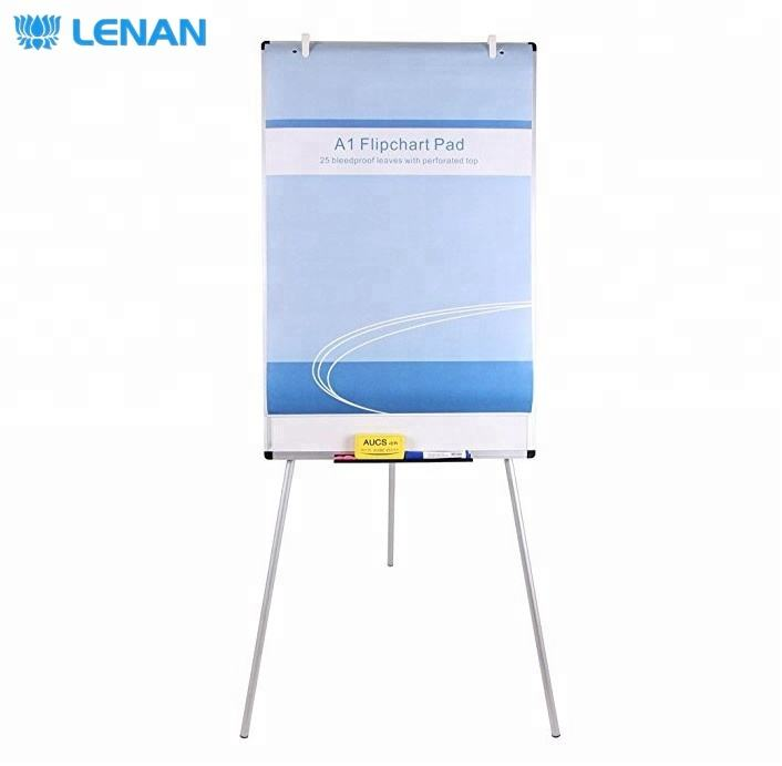 Wholesale Cheap 2 Holes A1 Size Flip Chart Easel Paper Mobile Flipchart Board Stand Wall Mounted Whiteboard Paper Pad