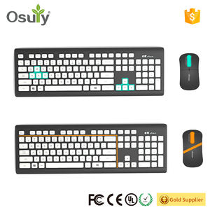 OEM 2018 elektronik komputer keyboard ergonomis Bluetooth keyboard dan mouse